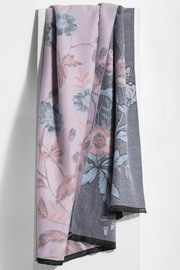 Saachi Reversible Floral Scarf - Front full body
