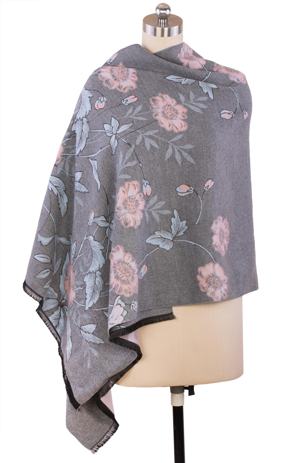 Saachi Reversible Floral Scarf - Side Cropped Image