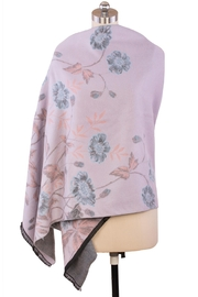 Saachi Reversible Floral Scarf - Back cropped