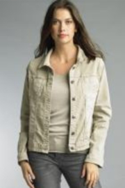 Tempo Reversible Khaki and Muted Pink Floral Pattern Jacket - Side cropped