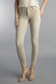 Tempo Reversible Khaki and Muted Pink Floral Pattern Pants - Side cropped