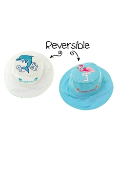 Flapjack Kids Reversible Kids-Sun-Hat Dolphin-Flamingo - Product List Image