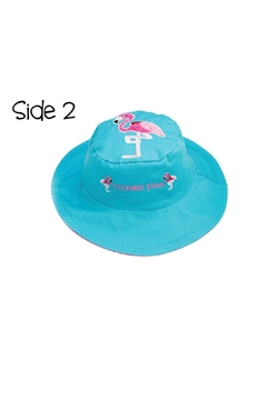 Flapjack Kids Reversible Kids-Sun-Hat Dolphin-Flamingo - Alternate List Image