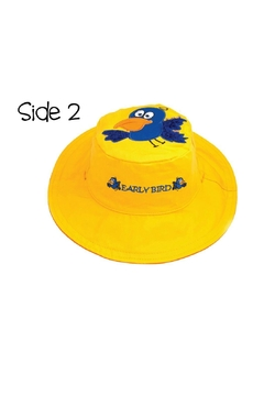 Flapjack Kids Reversible Kids-Sun-Hat Owl-Bird - Alternate List Image