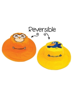 Flapjack Kids Reversible Kids-Sun-Hat Owl-Bird - Product List Image