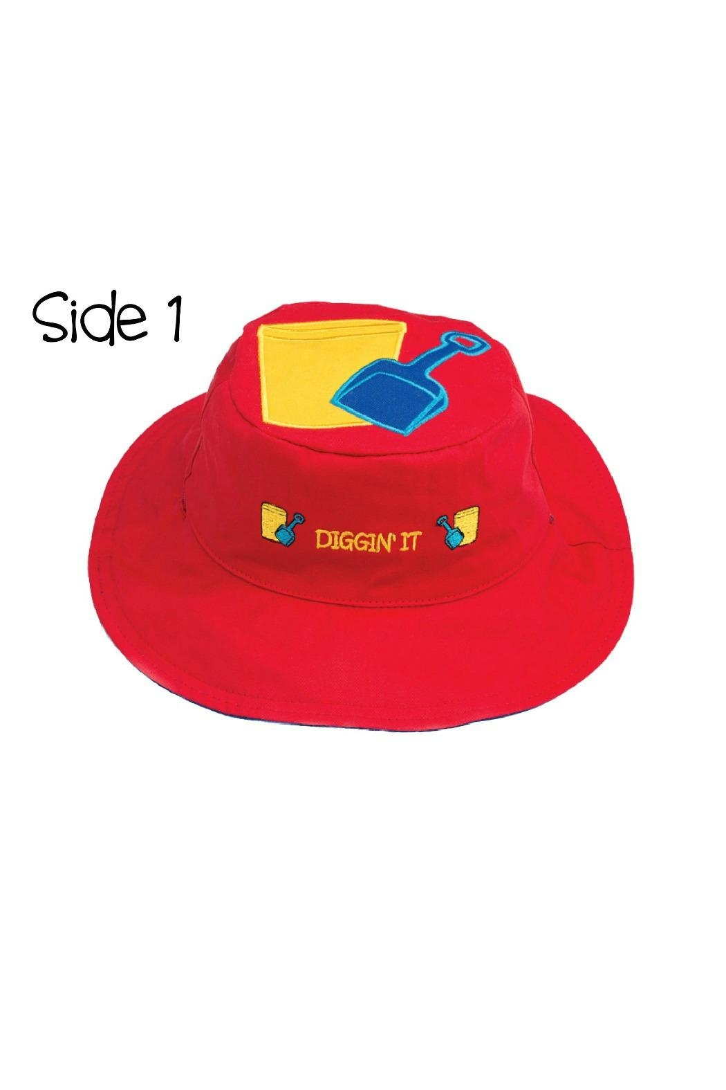 Flapjack Kids Reversible Kids-Sun-Hat Sandbucket-Fish - Front Full Image