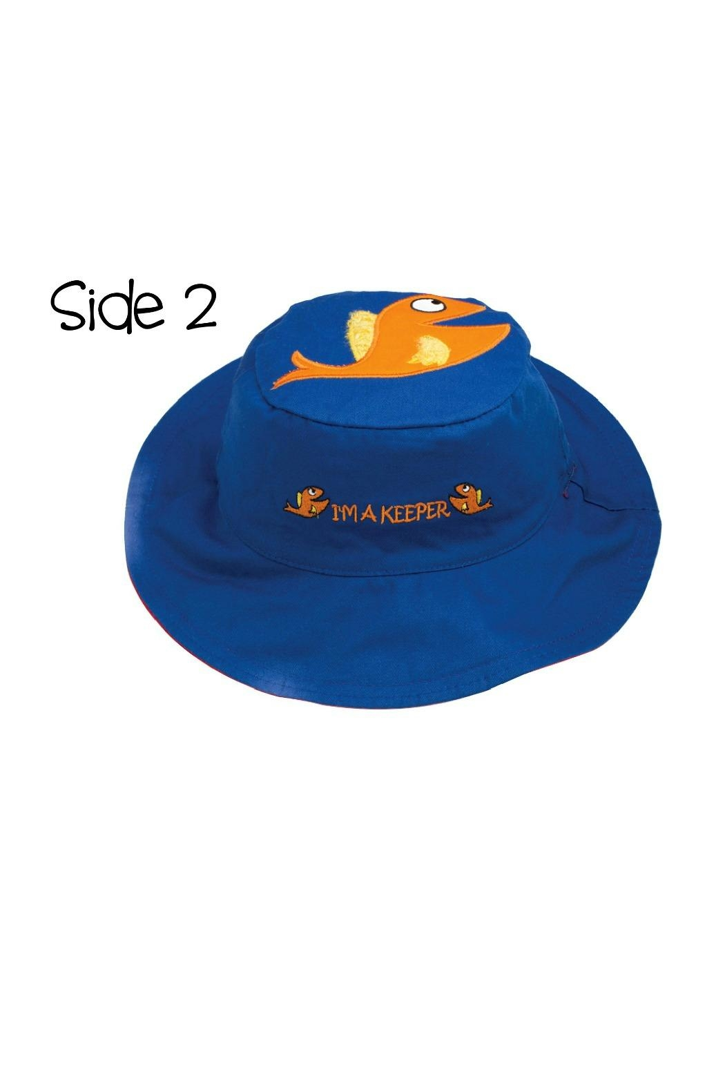 Flapjack Kids Reversible Kids-Sun-Hat Sandbucket-Fish - Side Cropped Image