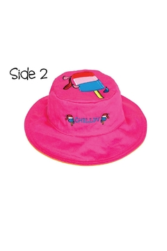 Flapjack Kids Reversible Kids-Sun-Hat Sundae-Popsicle - Alternate List Image