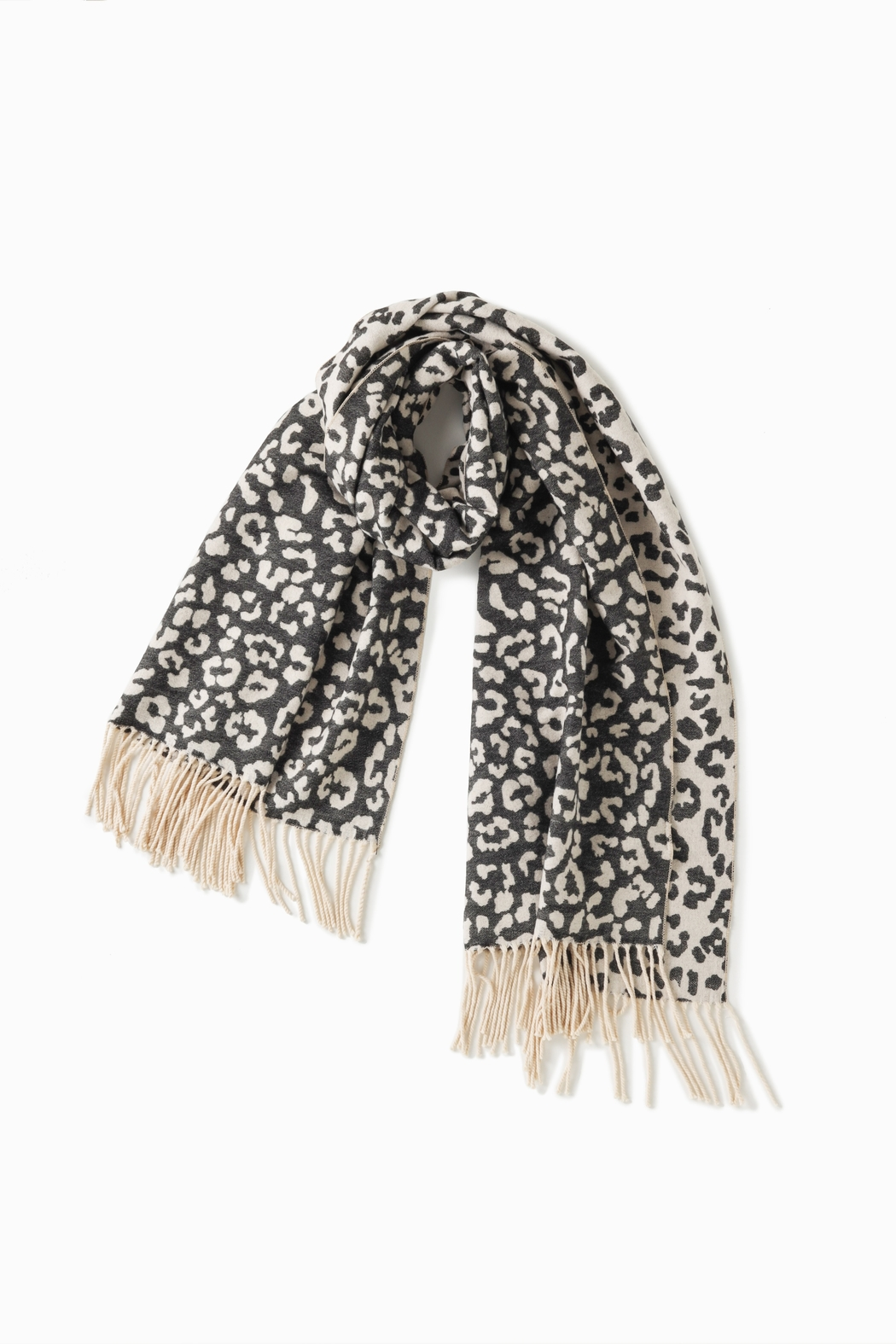 Look by M Reversible Leopard Scarf - Front Full Image