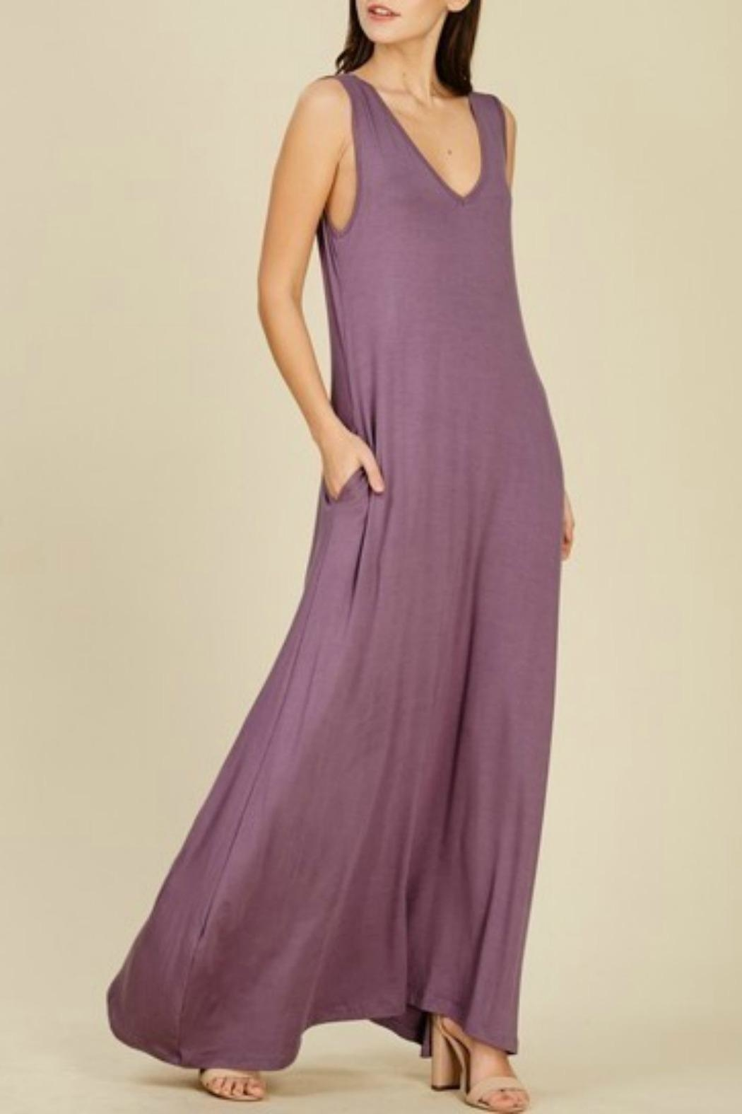 MHGS Reversible Maxi Dress - Front Cropped Image