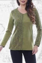 Parsley & Sage Reversible moss green/black top - Product Mini Image