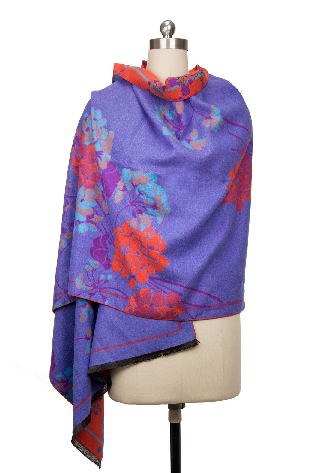 Saachi Reversible Praachy Bright Floral Scarf - Front Full Image