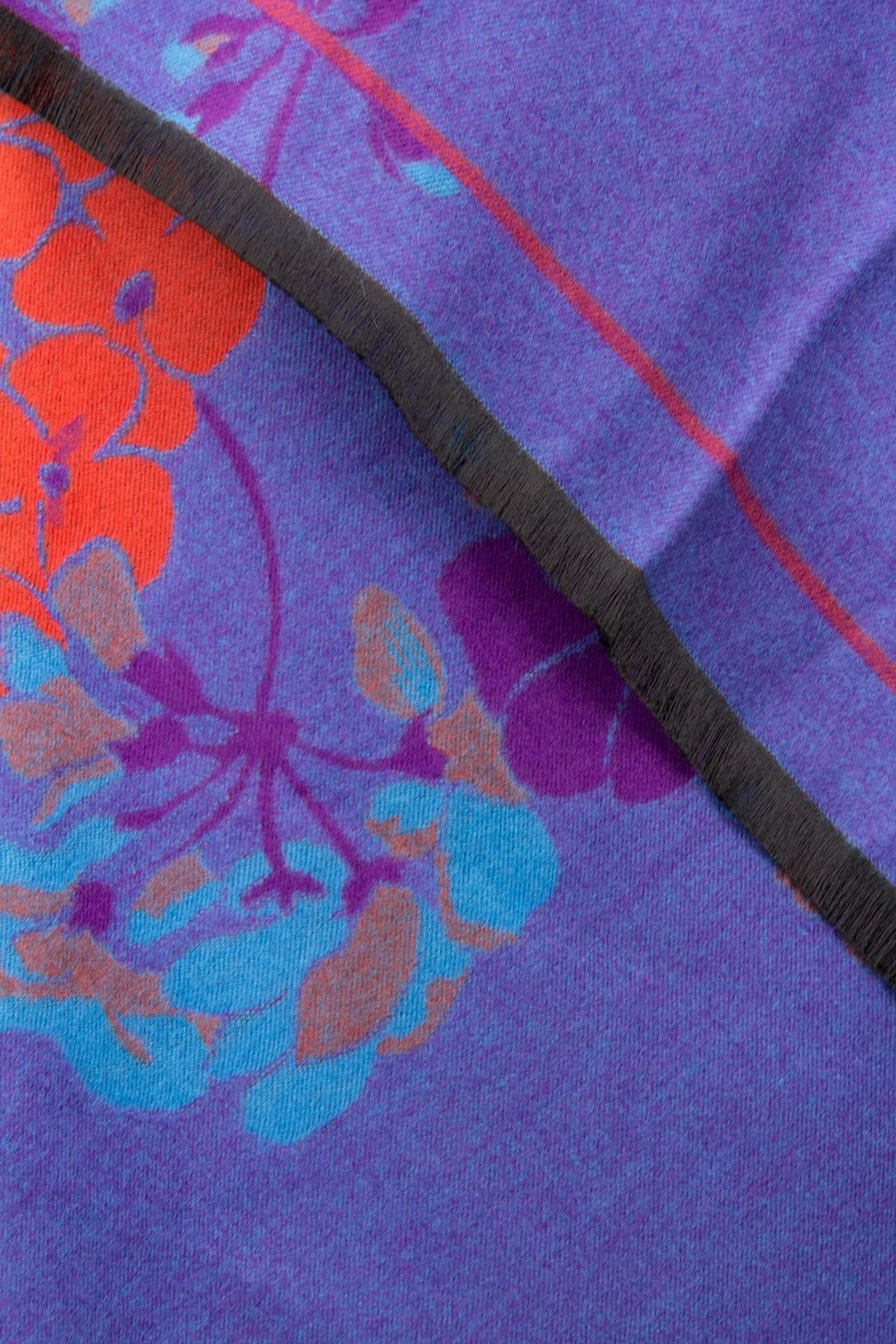 Saachi Reversible Praachy Bright Floral Scarf - Back Cropped Image