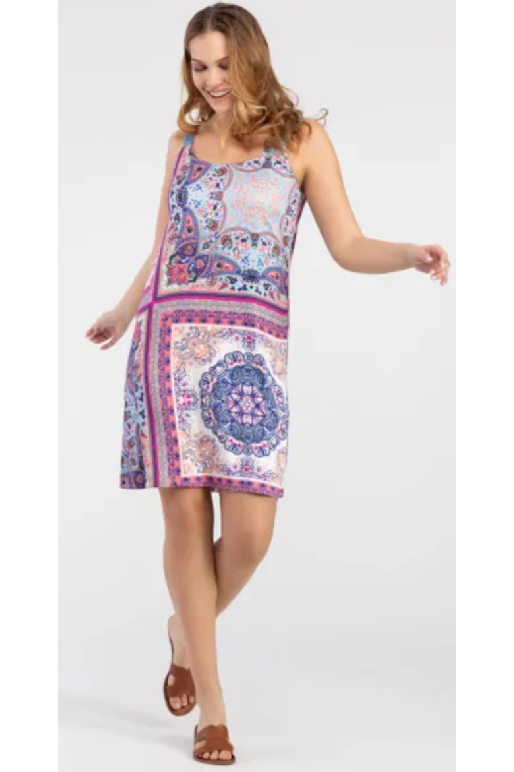 Tribal  Reversible Printed Dress - Front Cropped Image