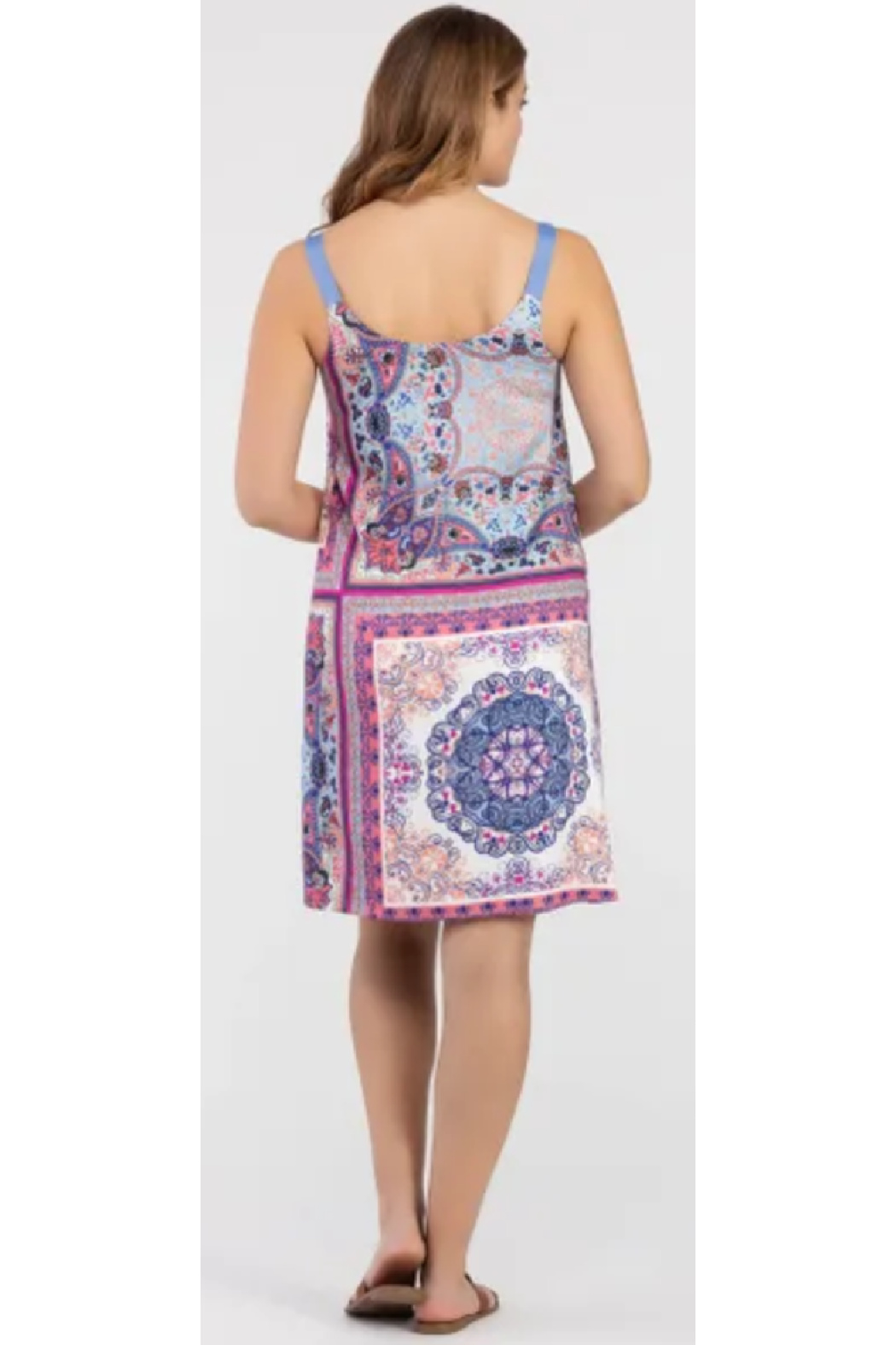 Tribal  Reversible Printed Dress - Side Cropped Image