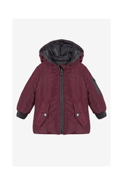 3 Pommes Reversible Puffer Coat - Front cropped