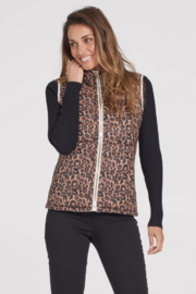 Tribal  REVERSIBLE PUFFER VEST - Front cropped