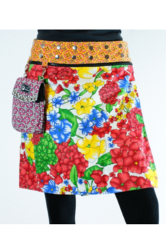 IBIZA Reversible rayon skirt with detachable pouch (sizes 0-12 and 18-19