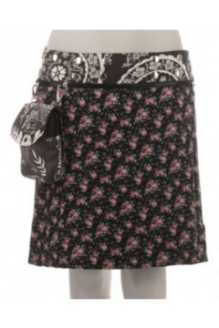 IBIZA Reversible rayon skirt with detachable pouch (sizes 10-20 and 19