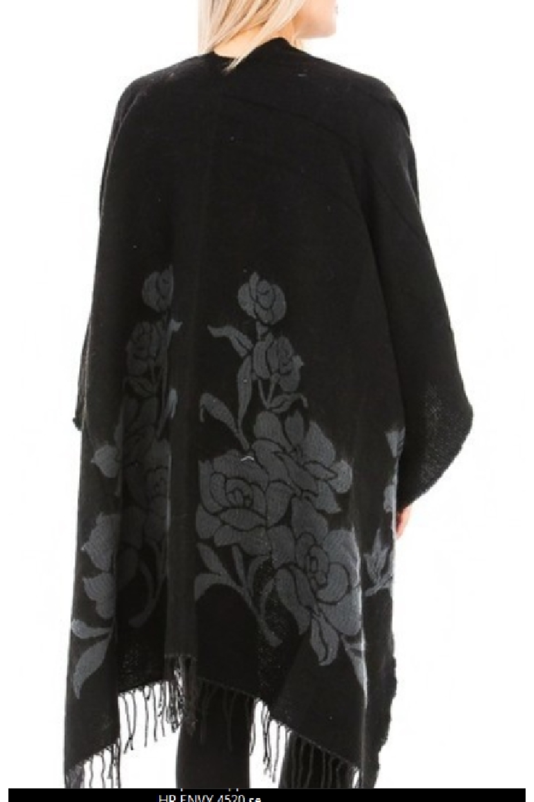 Odiva Reversible Rose Ruana  Cape - Side Cropped Image