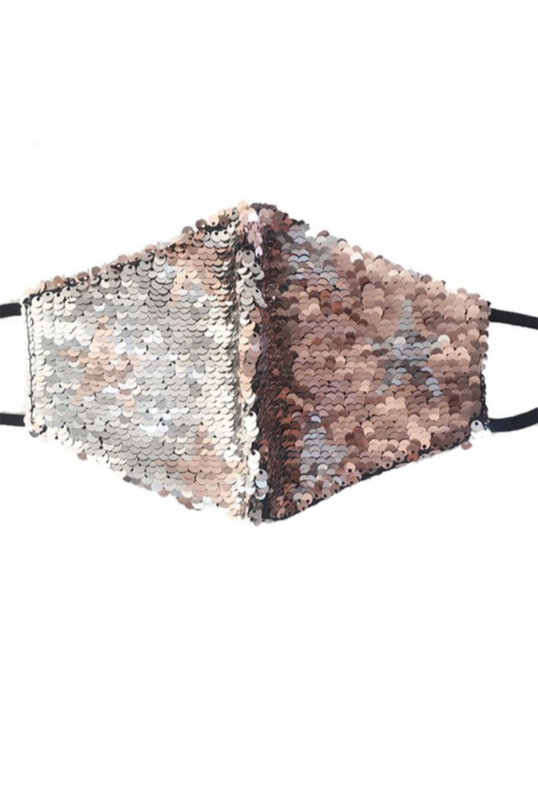 Hana Reversible Sequin Face Mask - Front Cropped Image