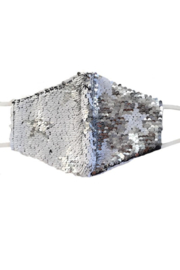 Hana Reversible Sequin Face Mask - Front cropped