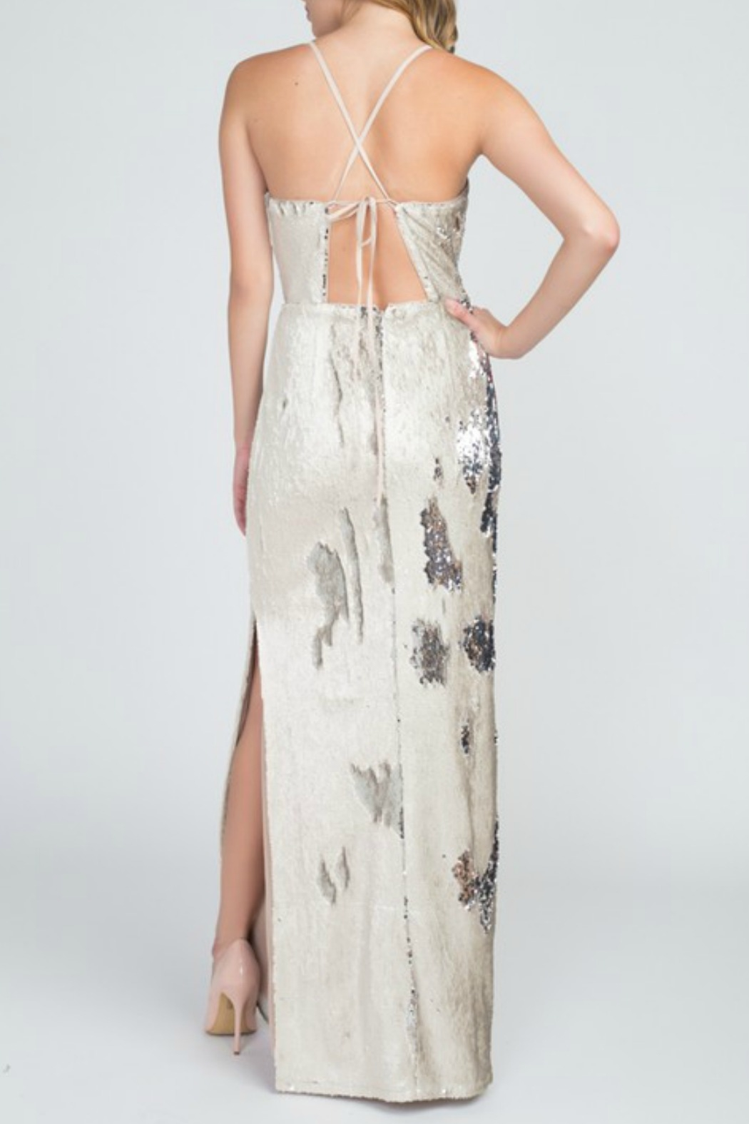 Minuet Reversible Sequin Gown - Front Full Image