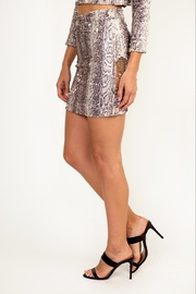 Olivaceous Reversible Sequin Skirt - Front full body