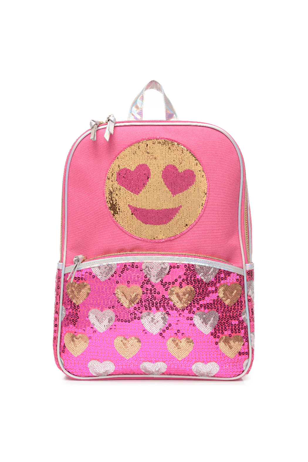 Me Oui Reversible Sequins Emoji Backpack - Main Image