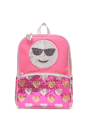 Me Oui Reversible Sequins Emoji Backpack - Front full body
