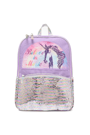 Me Oui Reversible Sequins Unicorn Backpack - Front full body