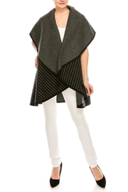 Look by M Reversible Shawl Scarf - Front full body