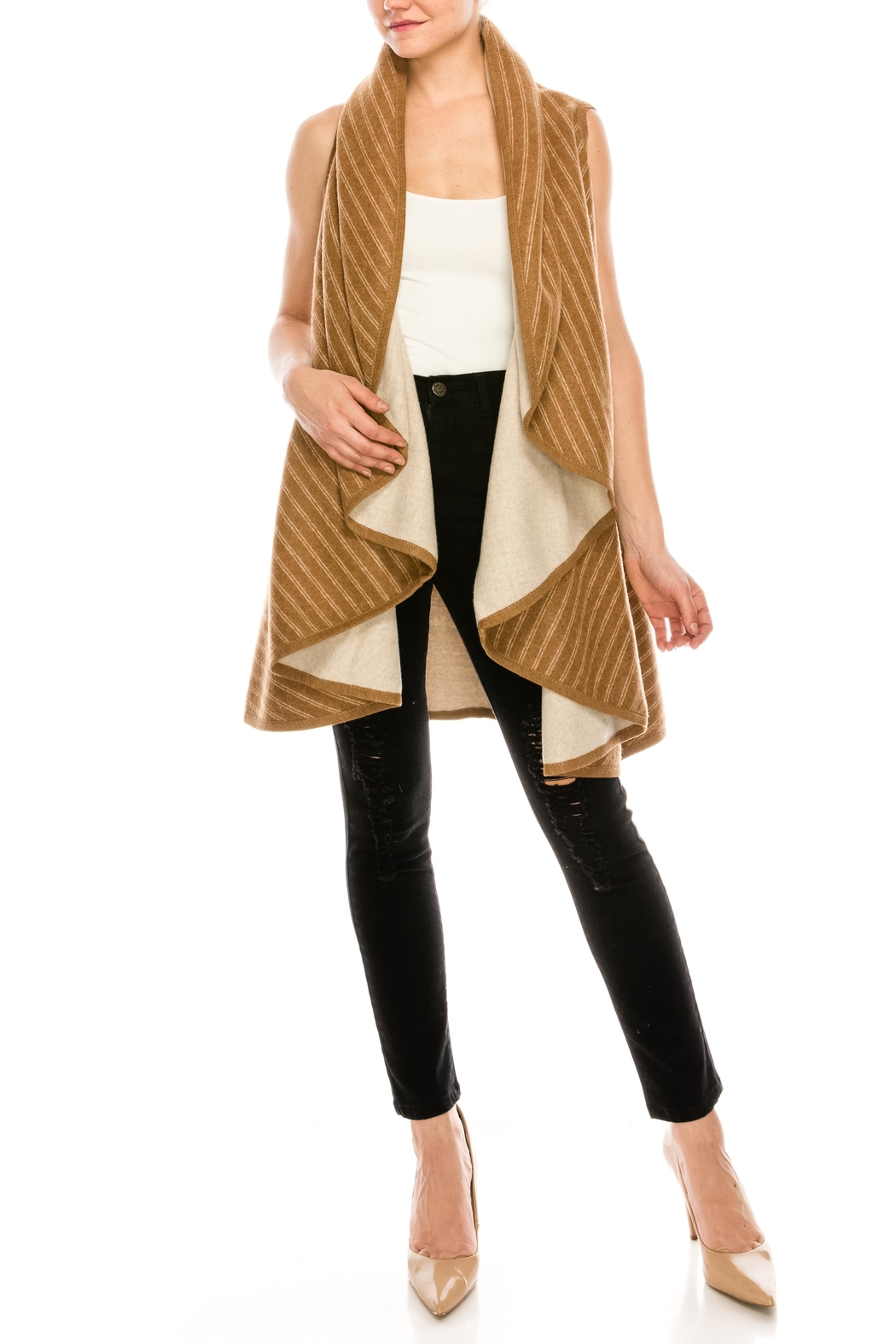 Look by M Reversible Shawl Scarf - Front Cropped Image