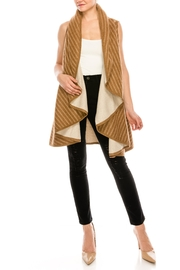 Look by M Reversible Shawl Scarf - Front cropped