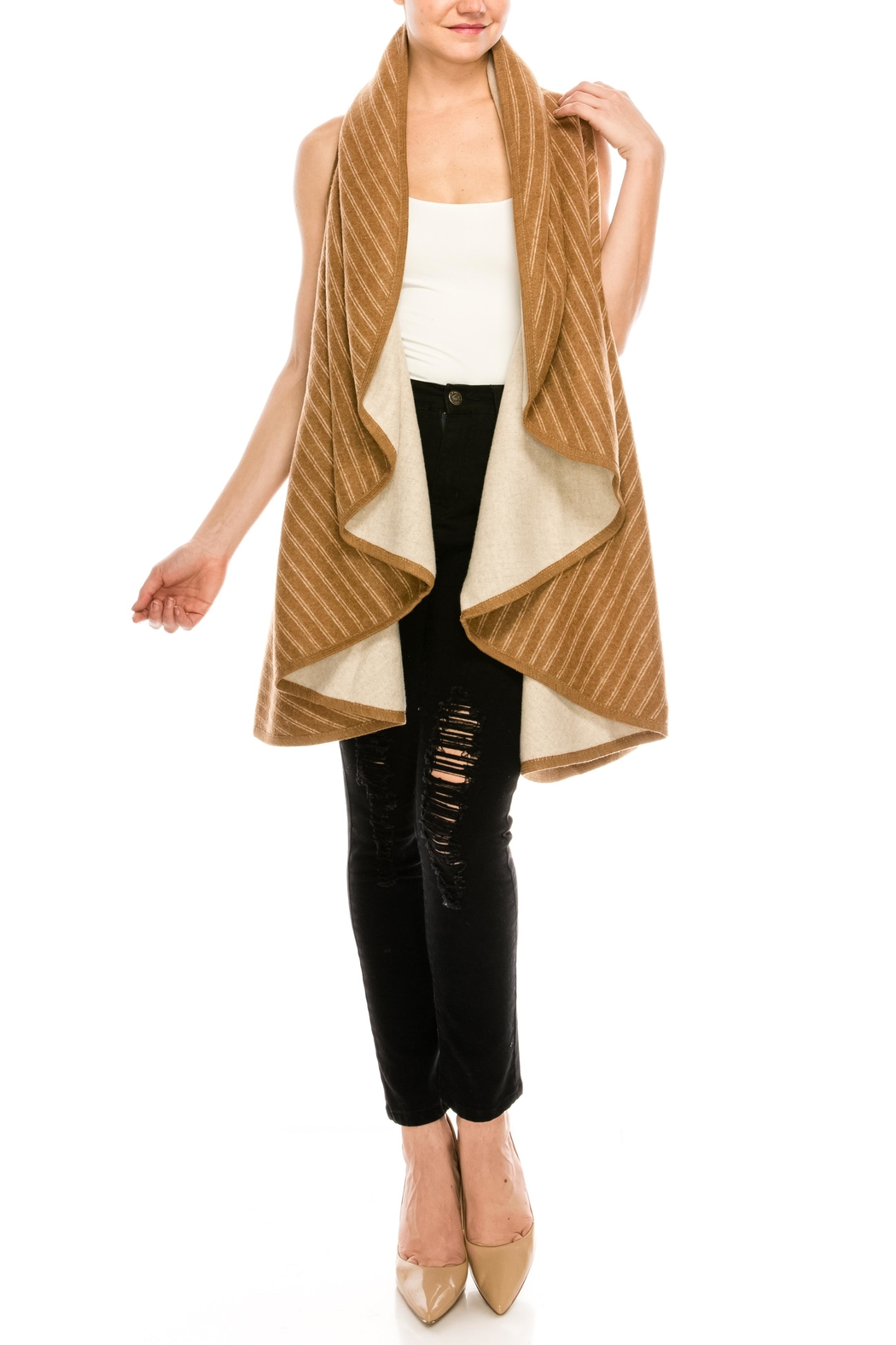 Look by M Reversible Shawl Scarf - Front Full Image