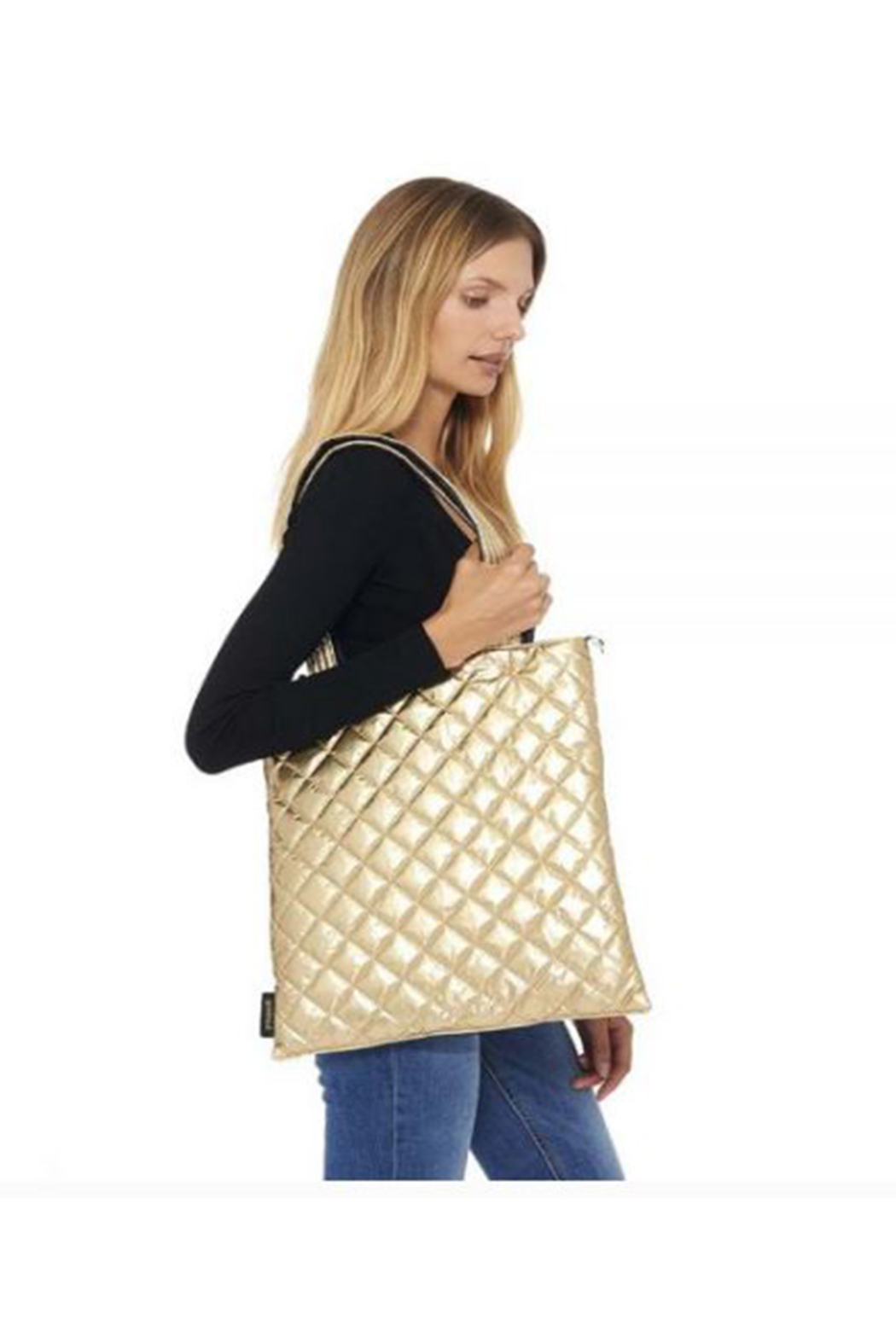 Goldno.8 Reversible Shopping Tote - Front Cropped Image