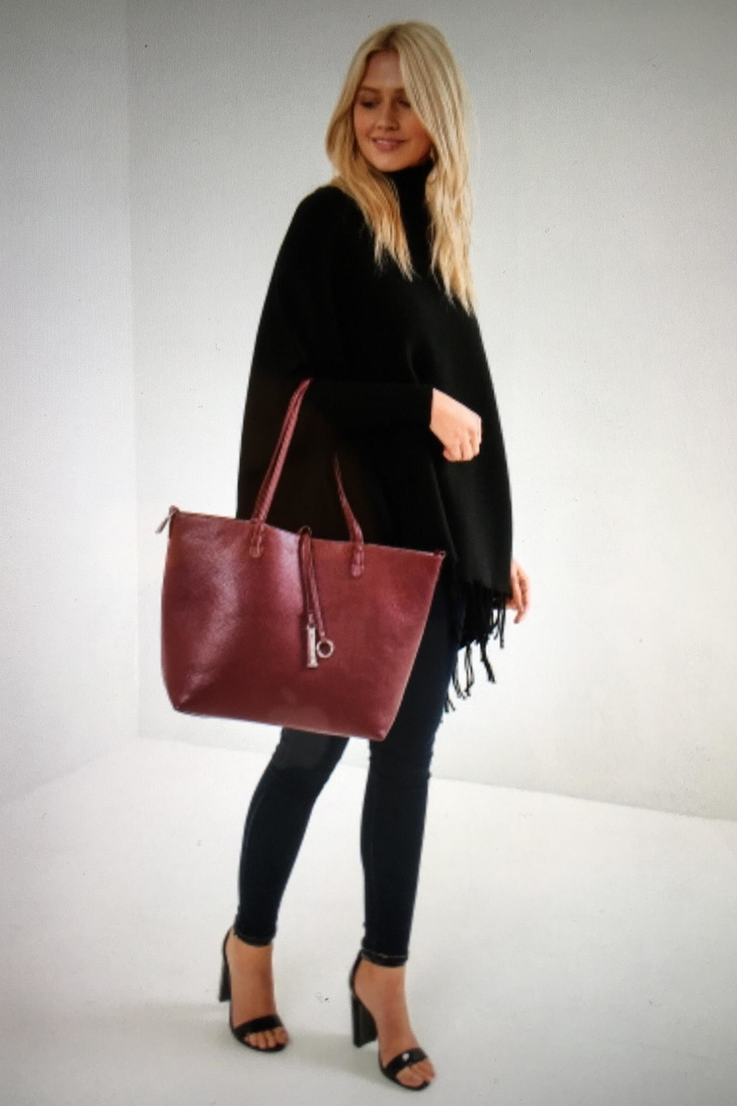 Kris-Ana  Reversible Star Tote - Front Cropped Image