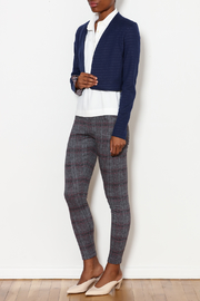 Three Dots Reversible Stripe Flounce Jacket - Side cropped