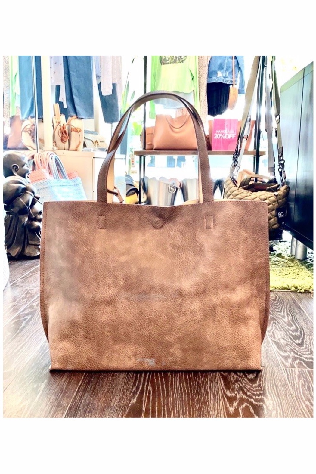 Allie & Chica Reversible Tote in Brown/Nude - Main Image