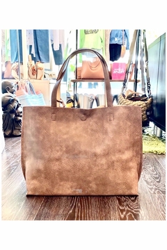 Allie & Chica Reversible Tote in Brown/Nude - Product List Image