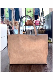 Allie & Chica Reversible Tote in Natural/Blue - Product Mini Image