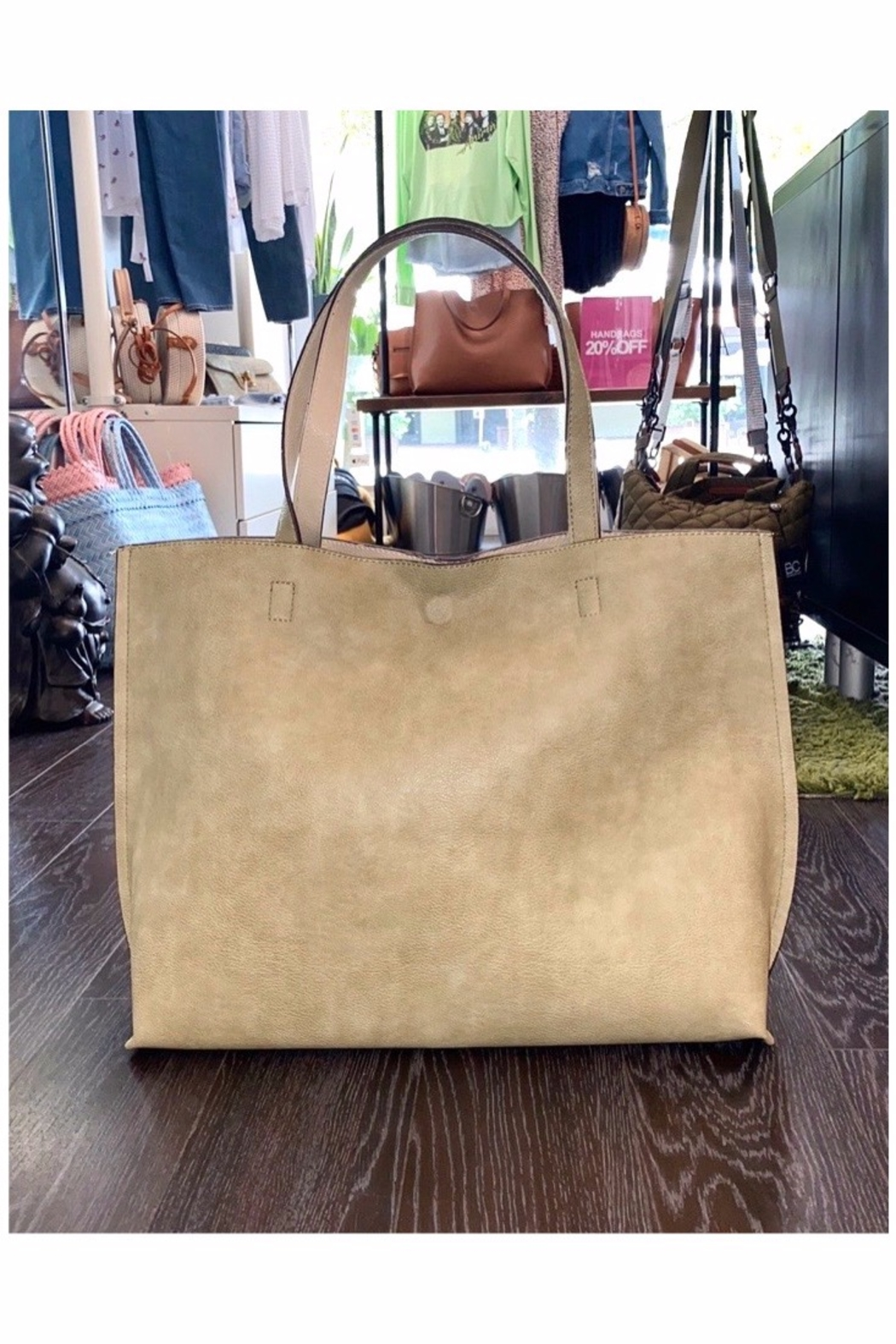Allie & Chica Reversible Tote Sage/Natural - Main Image