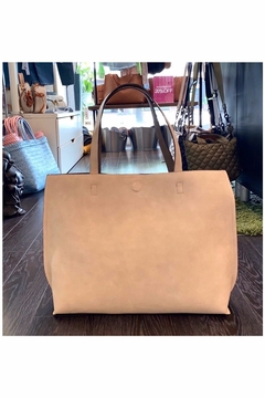 Allie & Chica Reversible Tote Ivory/Taupe - Product List Image