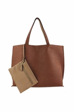 Allie & Chica Reversible Tote Tan/Natural - Alternate List Image