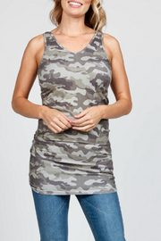 M. Rena Reversible v-neck scoop tank - Product Mini Image