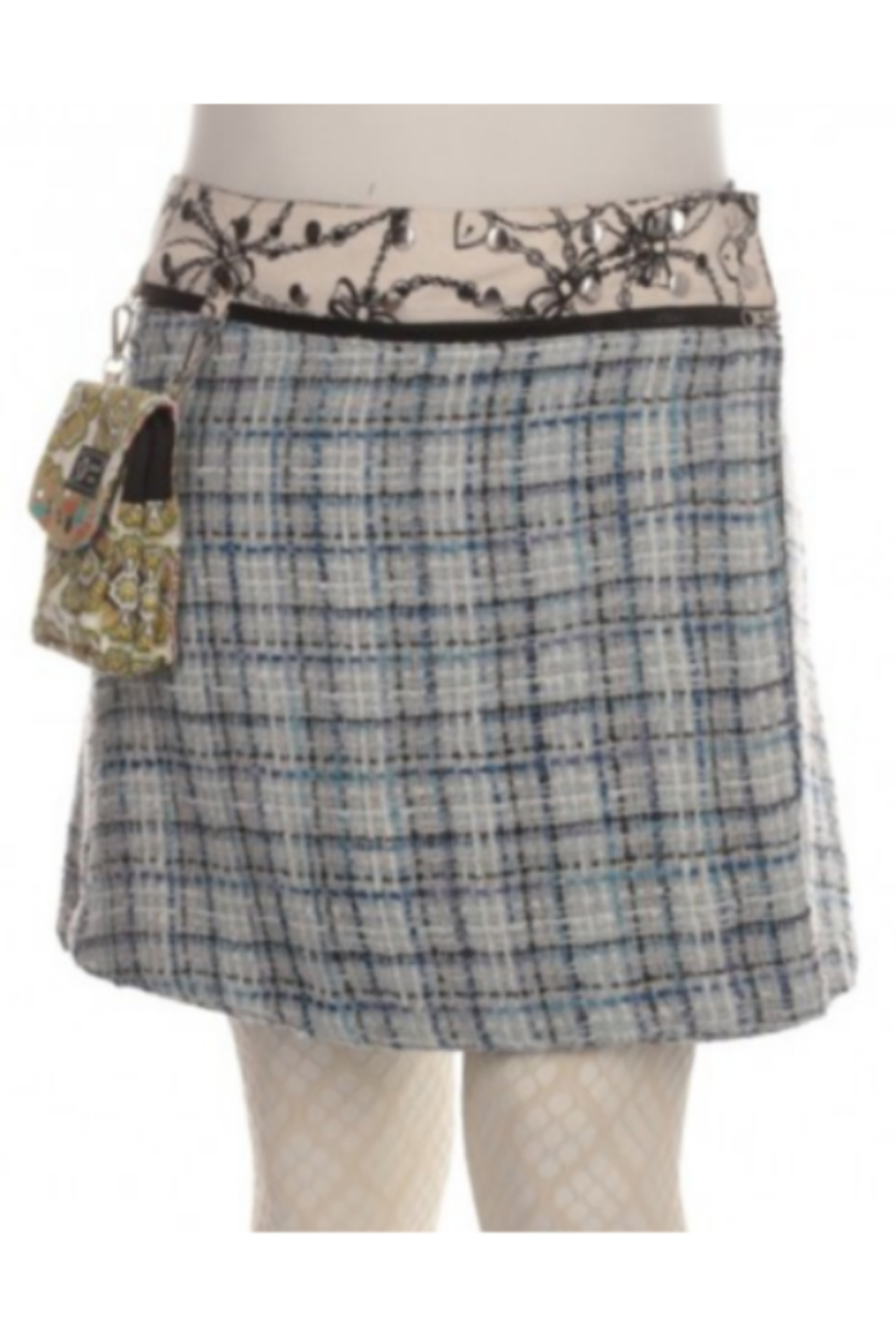 IBIZA Reversible wool or corduroy skirt with detachable pouch (sizes 0-12 and 19