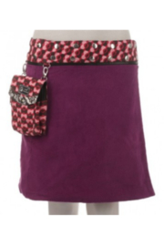 IBIZA Reversible wool or corduroy skirt with detachable pouch (sizes 10-20 and 20