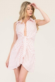 Reveuse Collared Polkadot Dress - Front cropped