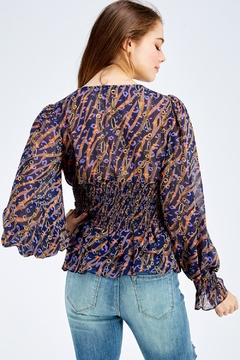 Reveuse Printed Open Blouse - Alternate List Image