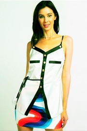 Reveuse White Satin Cami - Front cropped